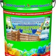 Древогрунт-Аква  антисептическая грунт-пропитка по дереву без запаха, 20кг