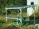 Навес от солнца и дождя на садовом участке