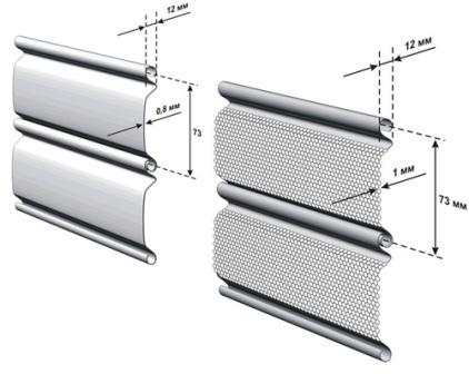 для защиты от взломщиков лучше выбирать алюминиевый экструдированный антивандальный профиль или стальные ролеты с толщиной ламели 1-1,5 мм