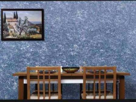 жидкие обои не оставляют на стенах швов и придают стенам красивую фактурность