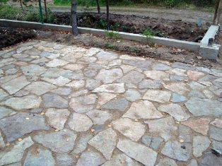 парковка с каменным покрытием