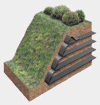 армирование грунта с помощью геотекстильных материалов