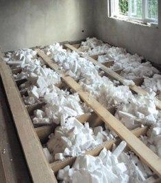 деревянный пол с утеплителем