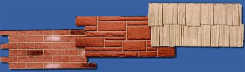 панели цокольного сайдинга - имитация под разные материалы