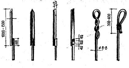 варианты оформления верхнего конца громоотвода-штыря