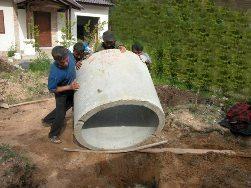 строительство колодца с бетонными кольцами