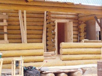 строительство бани из бревен