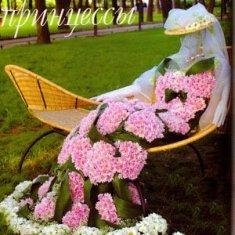 необычный цветник - яркий элемент садового ландшафта
