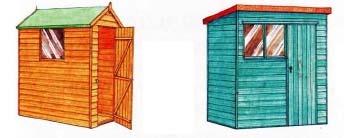 сарай с односкатной и двускатной крышей