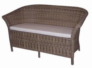 диван из искусственного ротанга