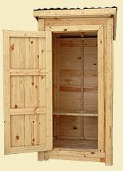 строительство деревянного туалета