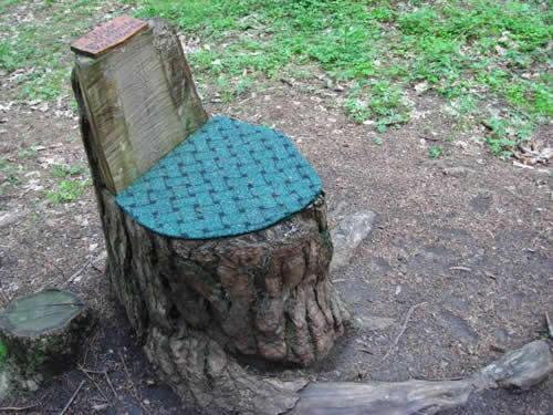 кресло из пенька с мягким сиденьем