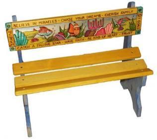 в конце любую скамейку можно еще и разукрасить