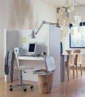 рабочее место, совмещенное с кухней-столовой
