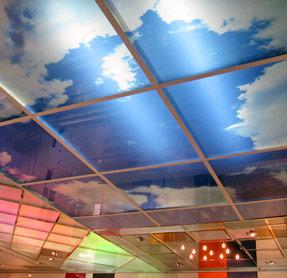 стеклянный подвесной потолок