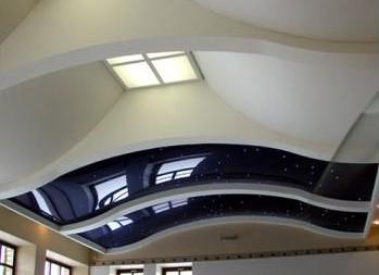 с помощью гипсокартона можно делать потолки самой необычной формы