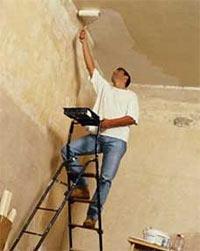 шпатлевка потолка валиком