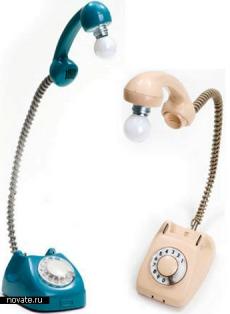 старый советский телефон из прихожей можно переделать в лампу