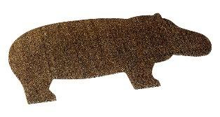 коврик в прихожую в виде бегемота