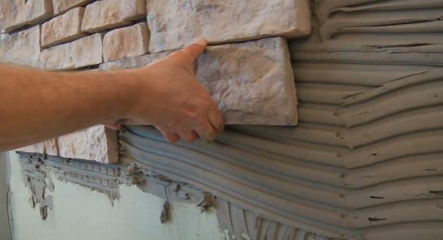 Монтаж декоративного камня своими руками 92