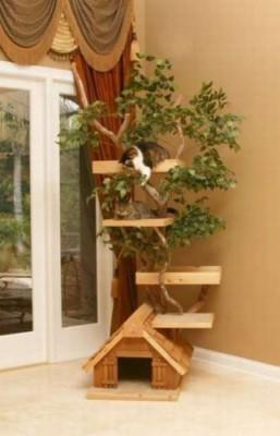 Сделать домик для кошки своими руками