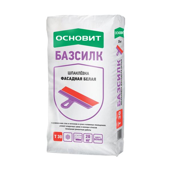 Базсилк Т-30 Шпаклевка Цементная Универсальная Белая