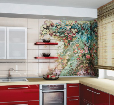 Как задекорировать старую плитку на кухне